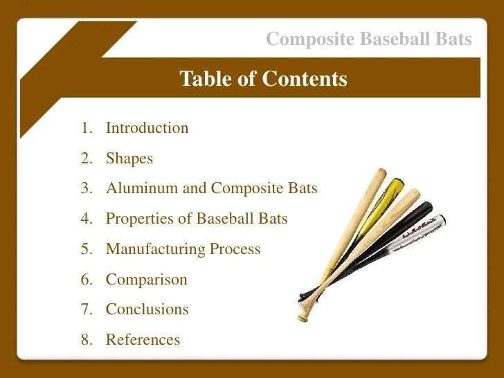 Composite Baseball Bat Manufacturing Process