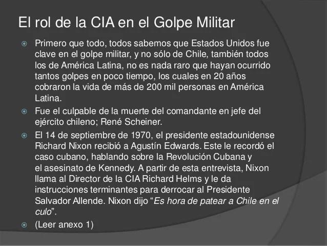 Resultado de imagen para la CIA en Chile