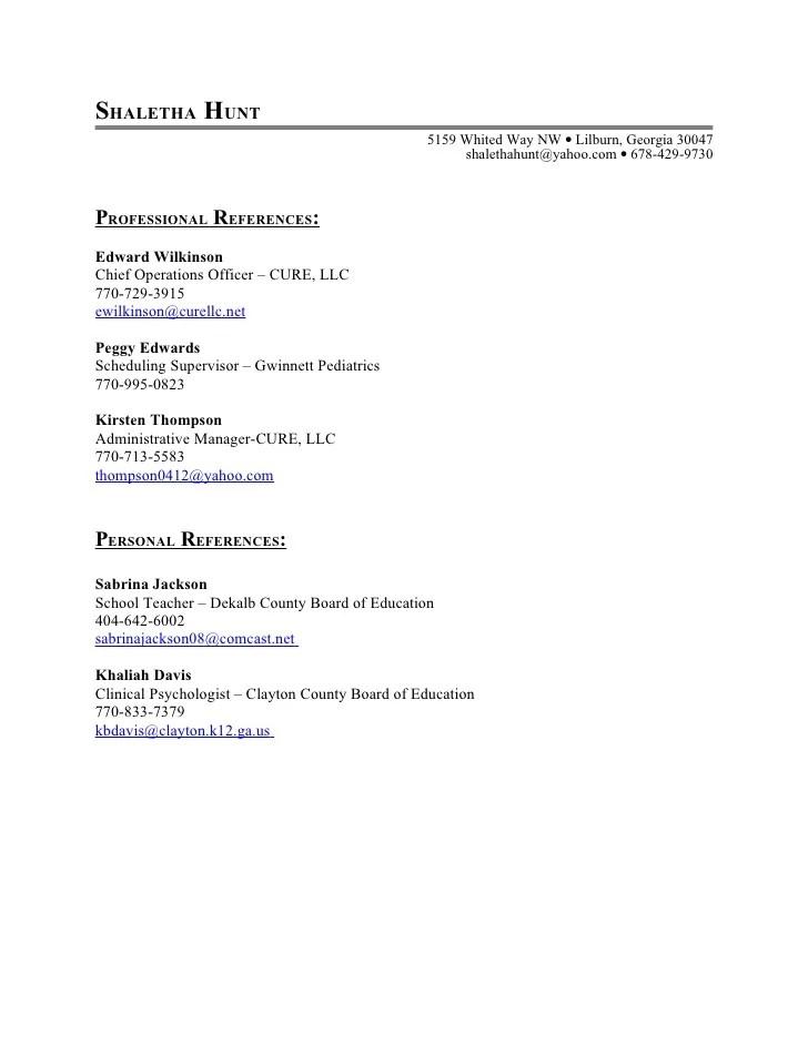 list references resume reference list format resume job list