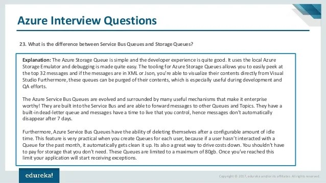 Azure Interview Questions And Answers Azure Tutorial For