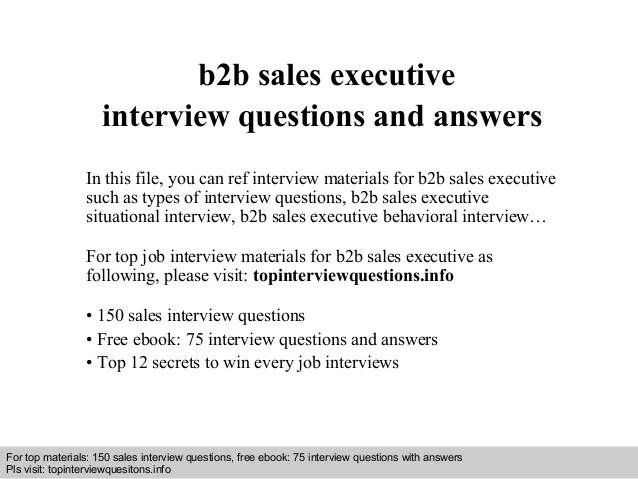 B2b sales executive resume