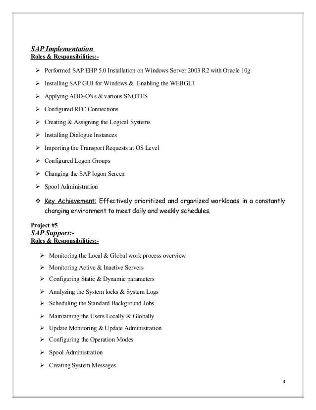 abap fresher resume format sap abap sample resumes sap resumes resume yrs sample technical consultant abap