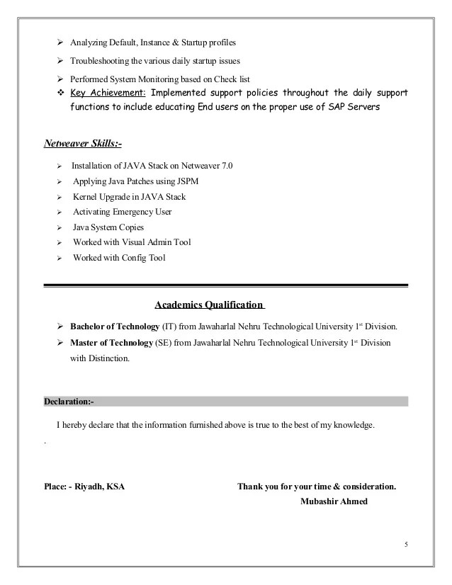 Sap Basis Resumes. resume template business object resume ...