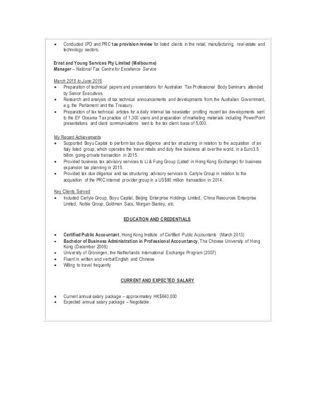 Tax Manager Resume | Resume CV Cover Letter