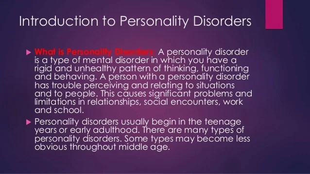 PERSONALITY DISORDERS DSM5