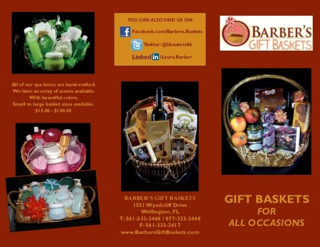 Barbers Gift Baskets Brochure