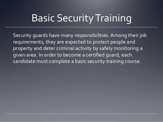 Basic Security Course