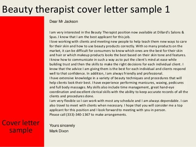 cv for beauty therapist