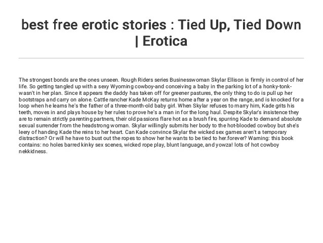 2 Best Free Erotic Stories Tied Up