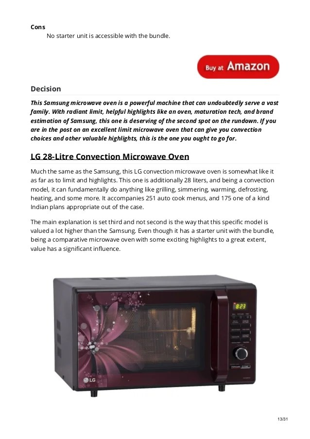 best microwave oven in 2019