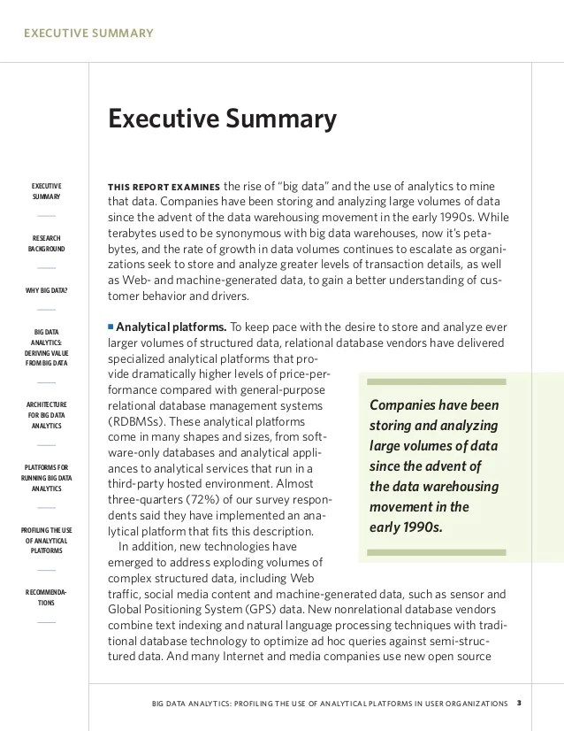What is an executive summary?