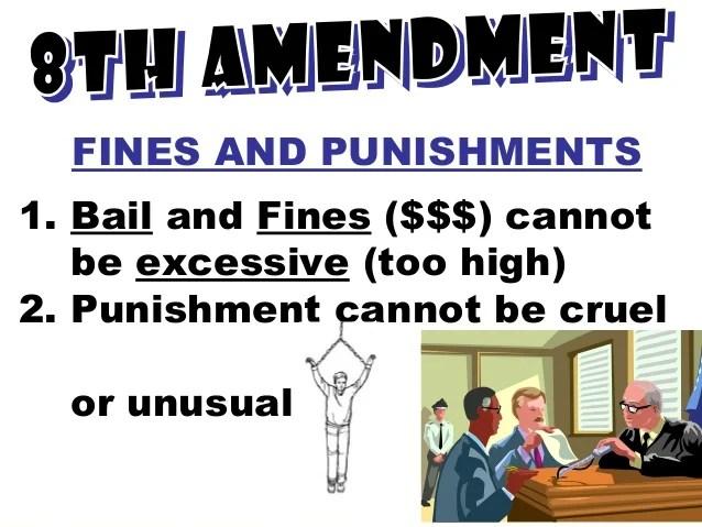 Cruel Punishment Unusual And Fair Right Fines No And Bail