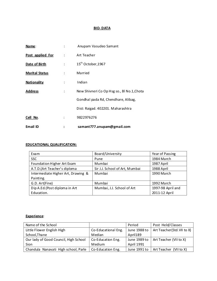 example resume marriage resume format for boy biodata marriage