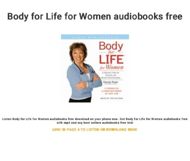 Body For Life For Women Audiobooks Free Listen Body For Life For Women Audiobooks Free Download
