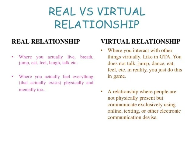 Online Relationships Are Not Real