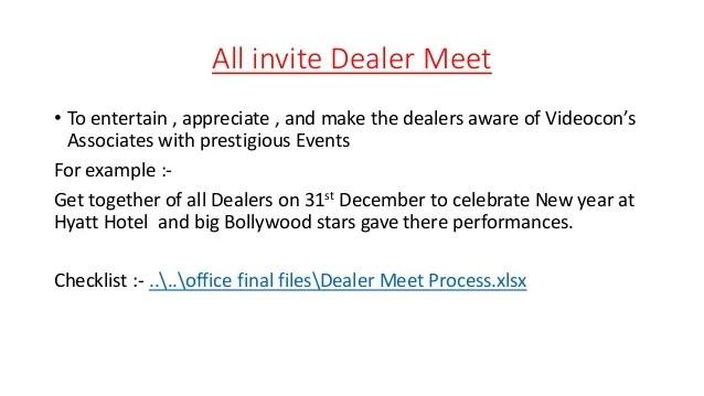 Dealer Meet Invitation Card Format Invitationjpgcom
