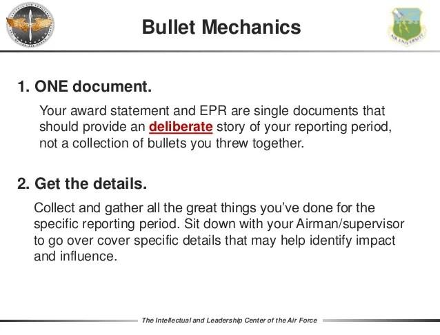 Impact Bullets Accomplishment