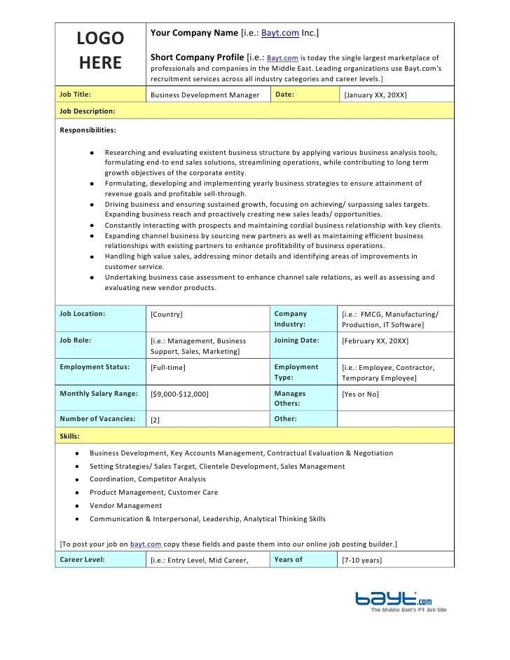 report template for business development best business template