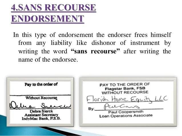 Check Endorse Order Which