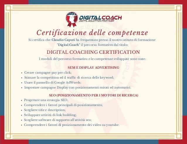 C Caputi Certificazione Delle Competenze Acquisite Digital