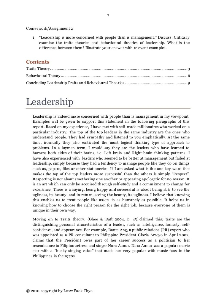 Leadership Qualities Resume Sample. An Essay About Leadership
