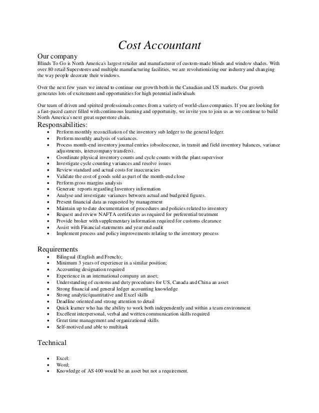 cost accountant resume sample resume cost controller urbancowboy us