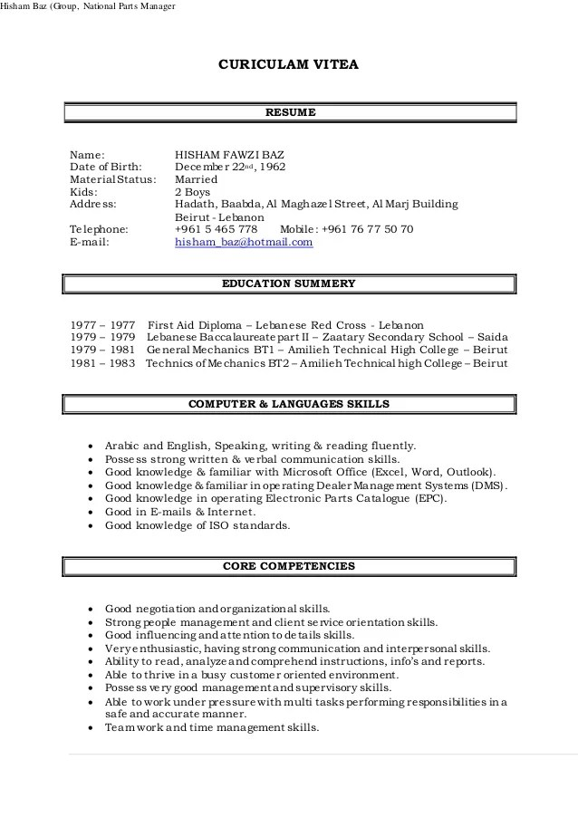 auto spare parts sales executive resume on january th all perfect resume example resume and cover parts of a resume