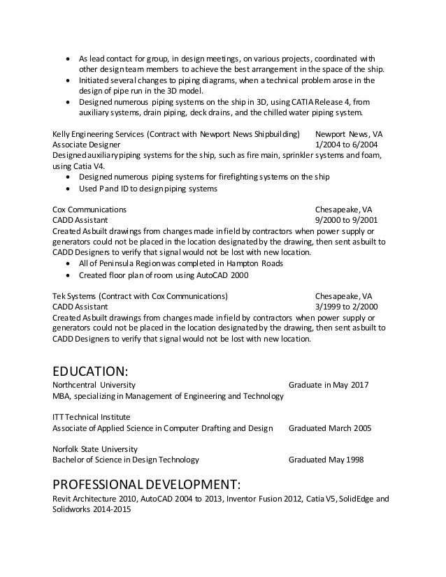industrial designer resume