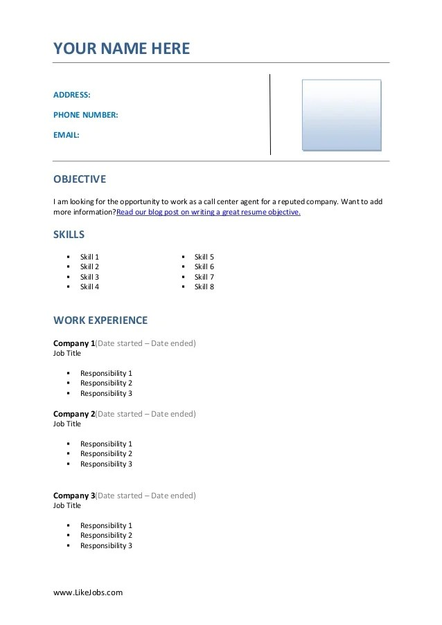 objective on job resume no work experience resume with skills resume