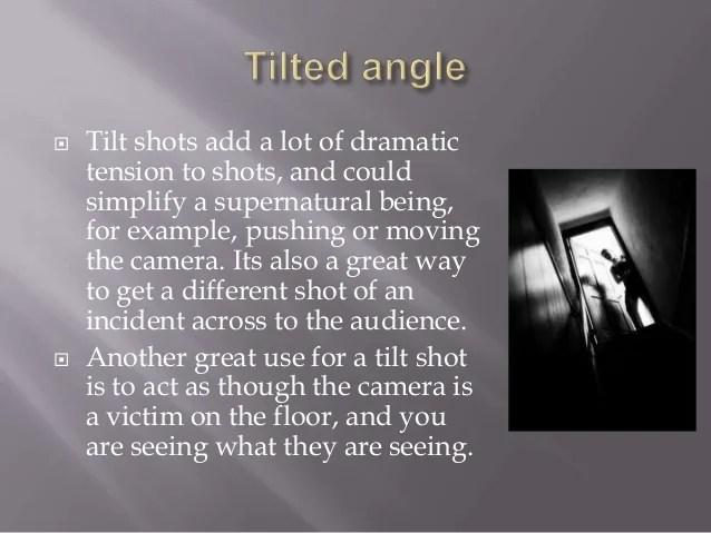 Image result for tilt shot in film example