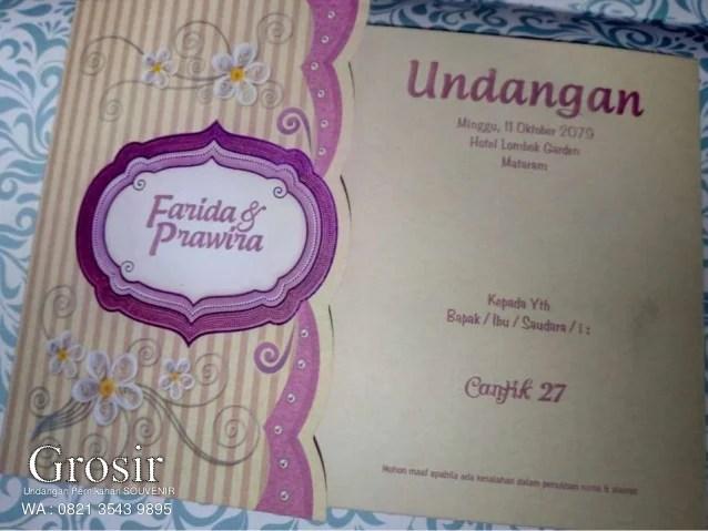 Supplier Contoh Kartu Undangan Pernikahan Cilacap 0821 3543 9895