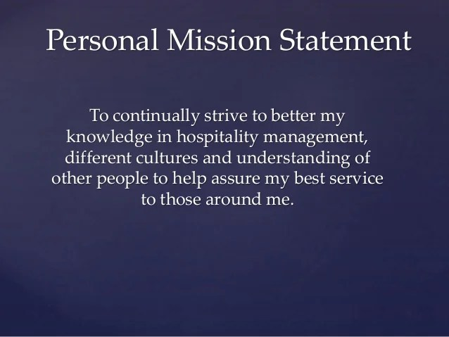 Writing A Personal Mission Statement - timethoughts