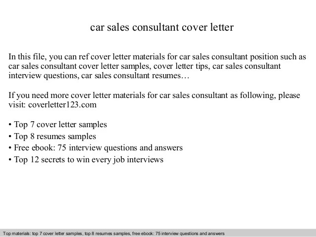 Car Sales Manager Cover Letter. Cover Letter Example Project