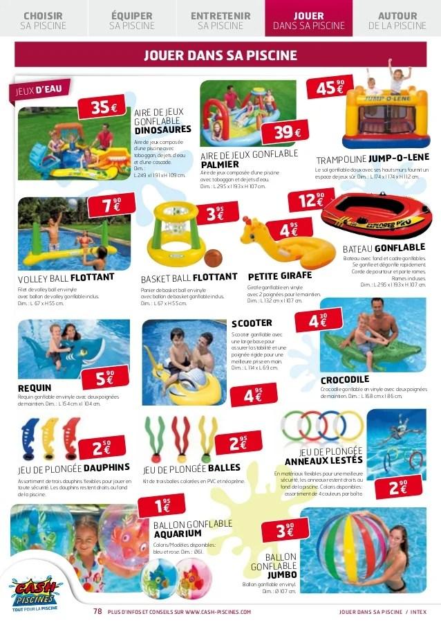 cash piscines catalogue 2013 jouer dans