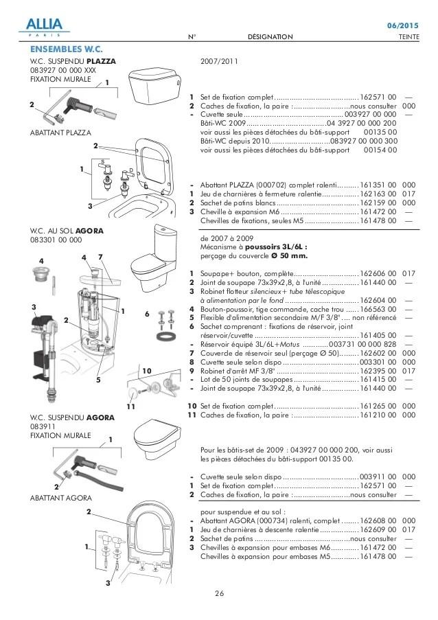 Catalogue Pieces Detachees N1 Wc Au Sol Et Suspendus Reservoirs De