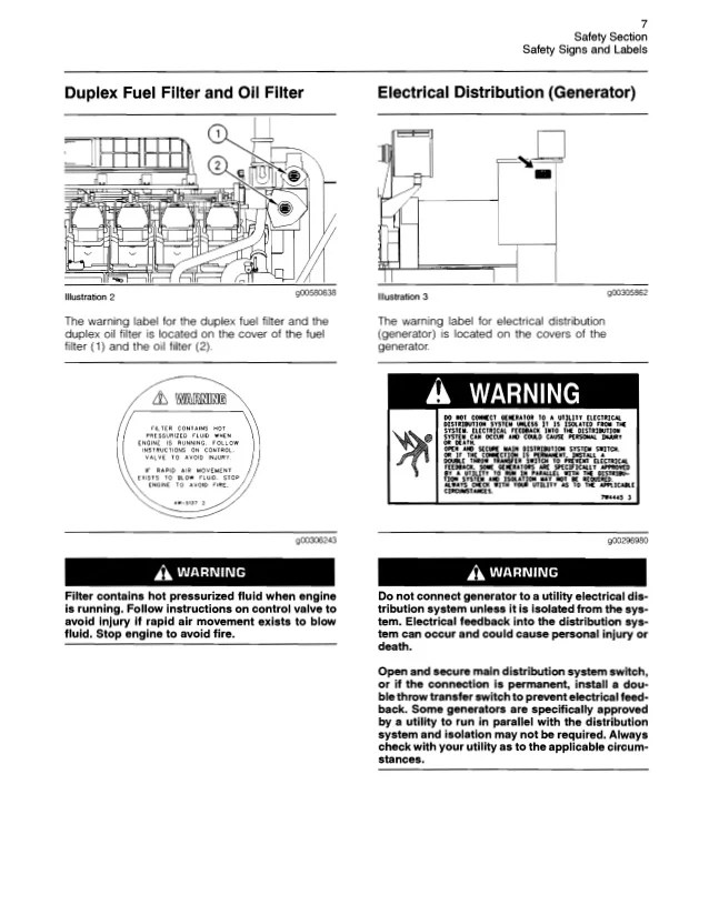 caterpillar operation and maintenance manual 3500 b engines s 7 638 olympian genset wiring diagram dolgular com olympian generator wiring diagram at gsmx.co