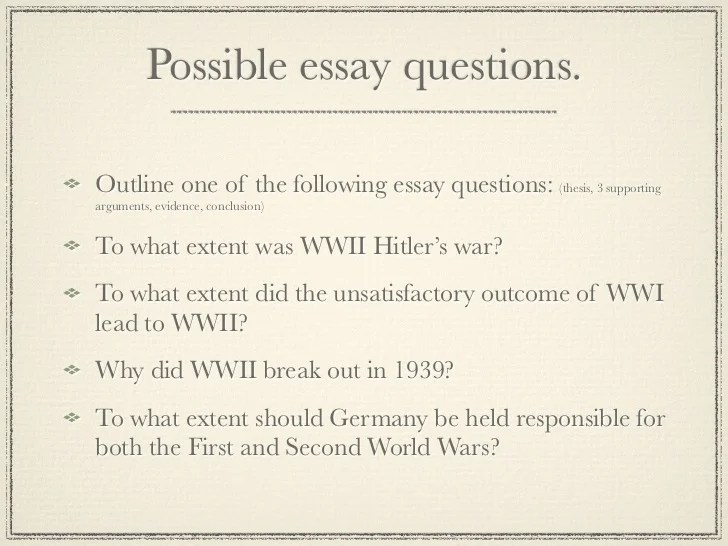 causes of ww2 essay
