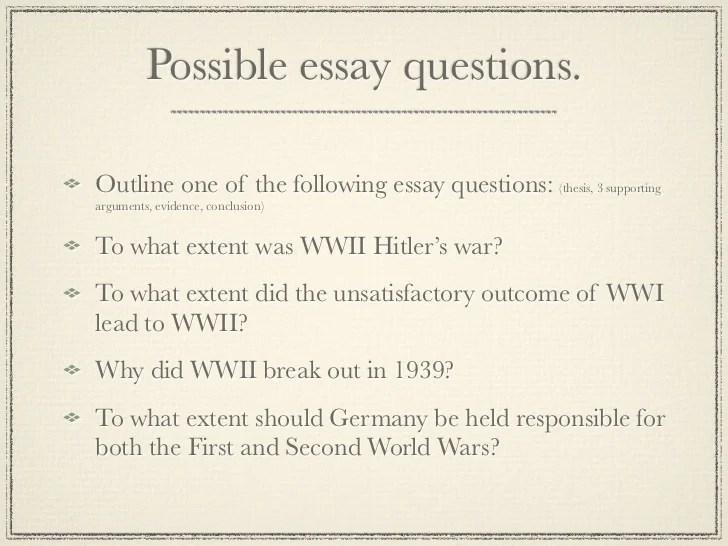 main causes of ww2 essay