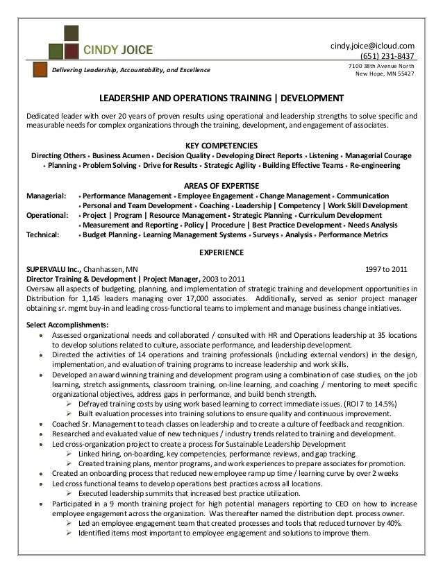 Manager Tools Resume. business operations resume and resume ...