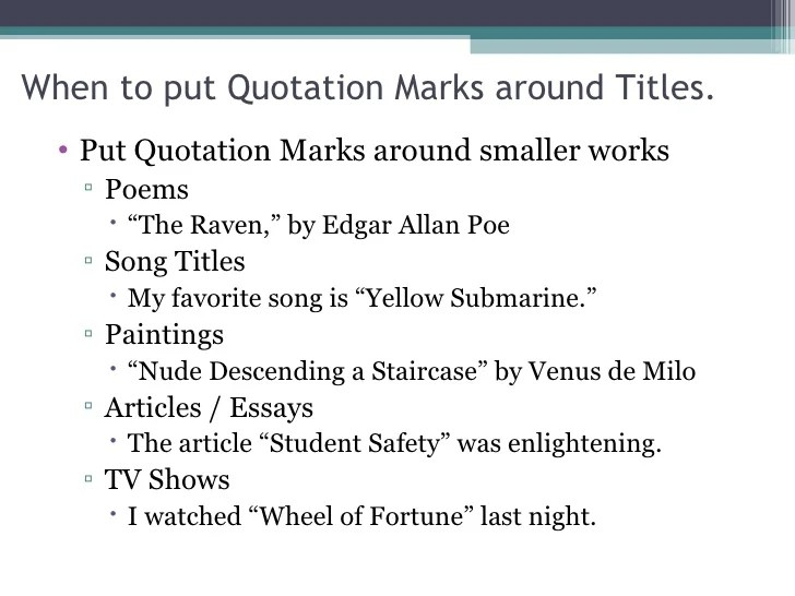 How to Quote a Song in MLA Format