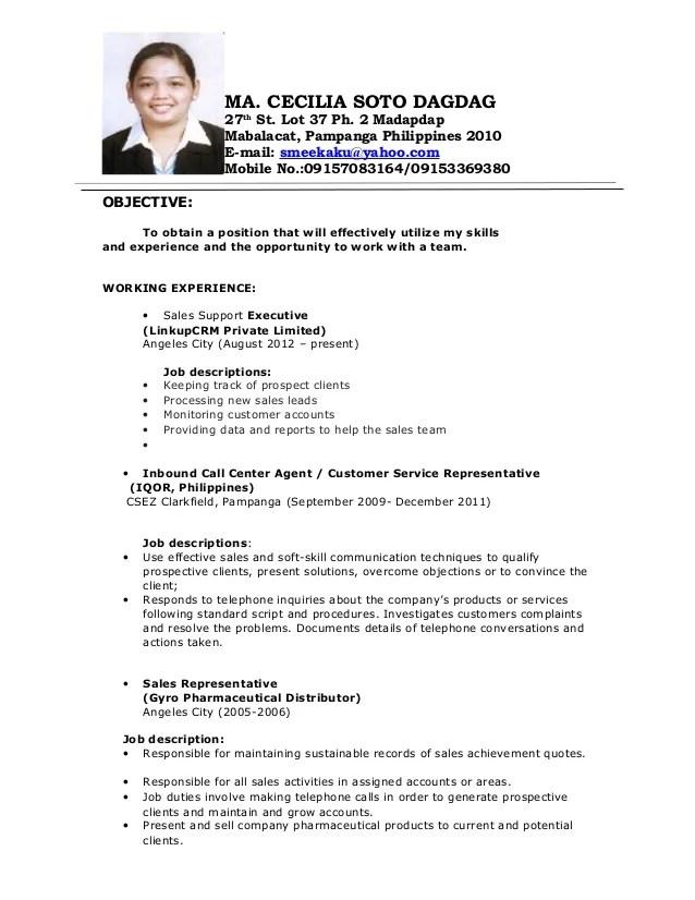 Sales Job Resume. sample sales job resume template. sales job ...
