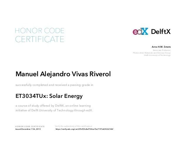 Solar Energy Certification