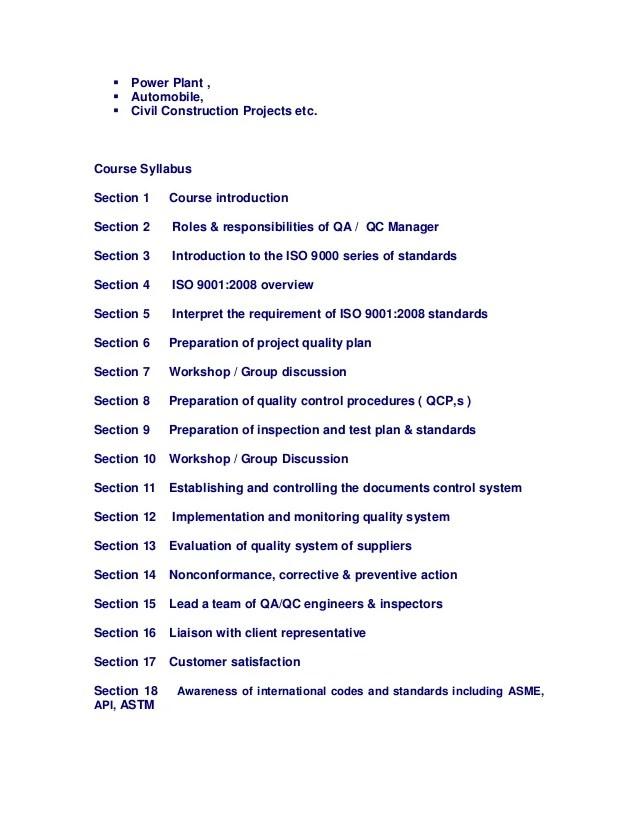 Qa Qc Manager Resume. Quality Manager Resume Sample Quality