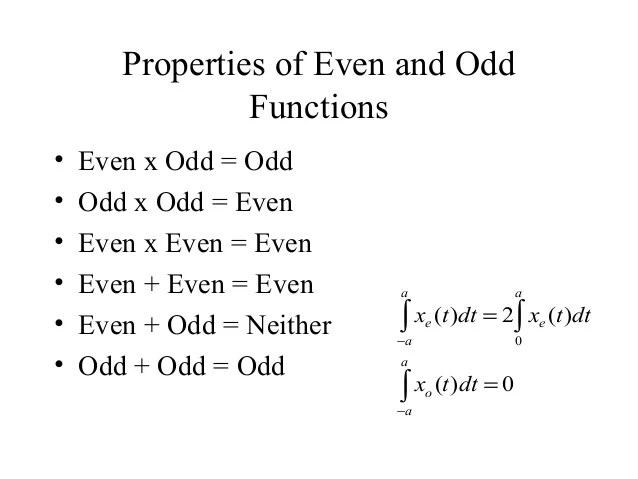 Examples Or Odd Even Functions Neither