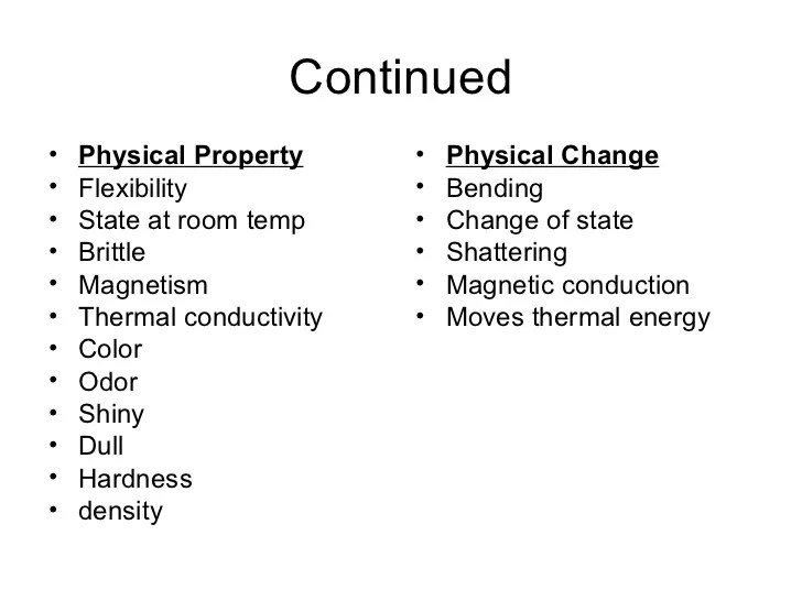 And Physical And Are Substance How Changes What Chemical They Are Used