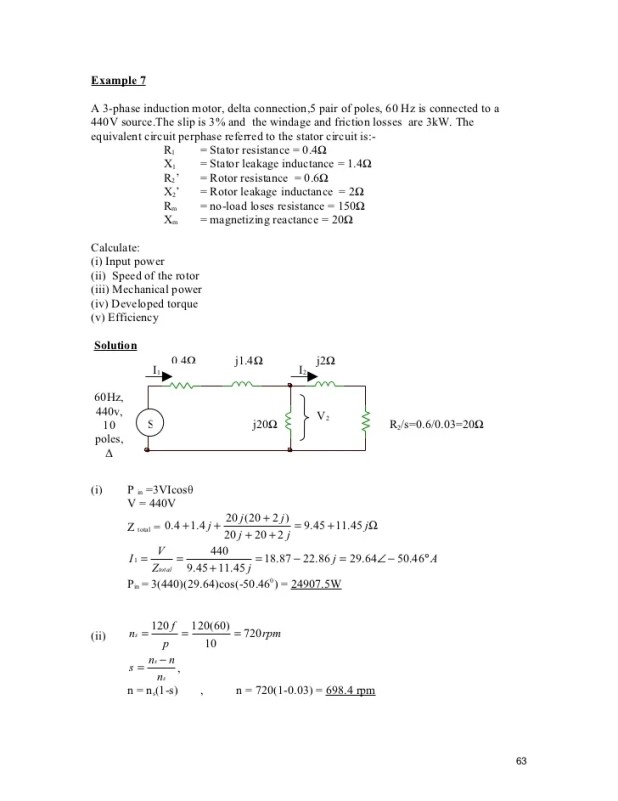 3 phase motor power calculation pdf