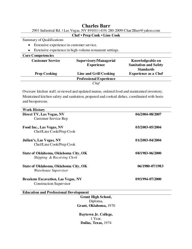 line cook resumes samples visualcv samples database chef resume line cook resumes