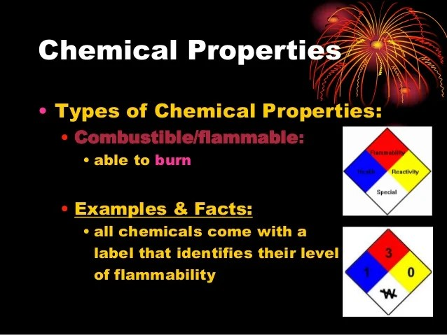 Physical And Chemical Properties Examples