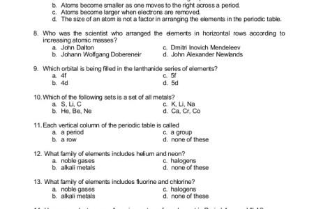 Larger atomic radius periodic table copy 2 6 the periodic table trends in the periodic table worksheet image collections worksheet periodic table atomic radius worksheet new trends in the periodic periodic table quizlet urtaz Images
