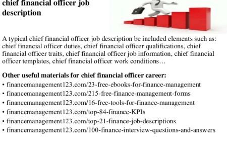 Chief Financial Officer Job Description | Chief Financial Officer Job Description Free Senior Finance
